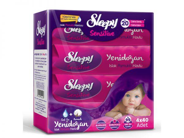 New Sleepy 40 db-os pamut törlőkendő Newborn